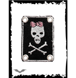 Patch Queen of Darkness - Girly Skull