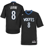 Maillot Zach Lavine Minnesota Timberwolves Lights Out Sleeved Swingman