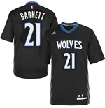 Maillot Kevin Garnett Minnesota Timberwolves Lights Out Sleeved Swingman