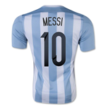 Maillot de Football Argentine Home 2015-2016 (Messi 10)