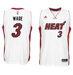Maillot Miami Heat Dwyane Wade adidas White New Swingman Home