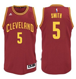 Maillot Cleveland Cavaliers J. R. Smith adidas Garnet New Swingman Road
