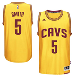 Maillot Cleveland Cavaliers J. R. Smith adidas Gold New Swingman Alternate