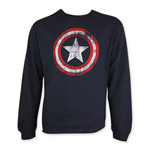 Sweat-shirt Captain America - Logo Délavé