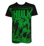 T-shirt Hulk On Black Subway Vert