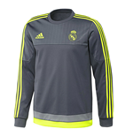 Sweatshirt Real Madrid Adidas 2015-2016 (Gris)