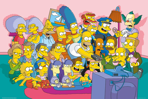 Poster Les Simpson - Sofa Cast