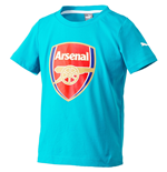 T-shirt Arsenal Puma Crest Fan 2015-2016 (Capri Breeze)