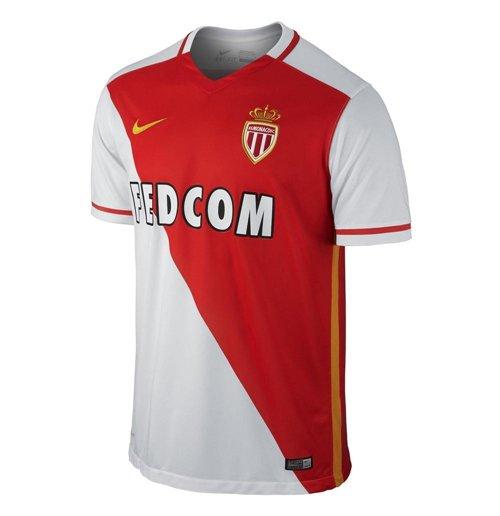 info pour bcba9 6b6a2 Maillot de Football AS Monaco Nike Home 2015-2016