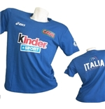 T-shirt Italie Volleyball Bleu Clair 2015/2016