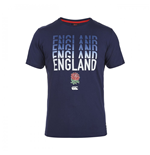 T-shirt Angleterre Rugby Stacked 2015-2016 (Bleu Marine)