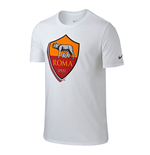 T-shirt AS Roma Nike Crest 2015-2016 (Blanc)