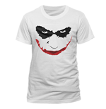 T-shirt Batman The Dark Knight - Joker Smile Outline