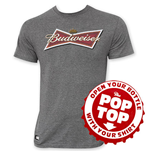 T-shirt Budweiser Logo Noeud Papillon Pop Top Gris