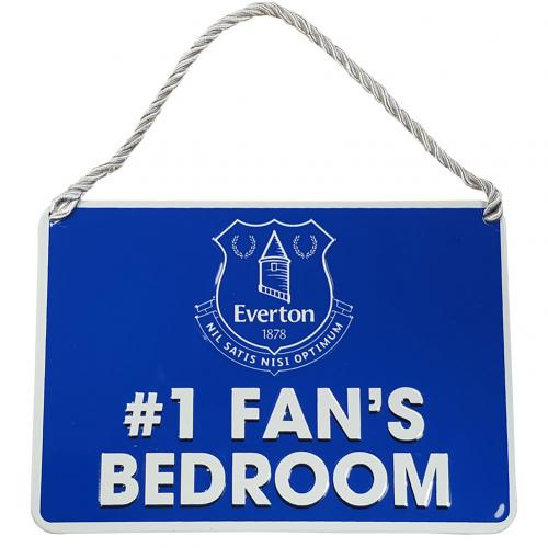 Plaque de Porte Chambre Everton FC - No.1 Fan