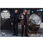 Dark Knight Rises figurines Movie Masterpiece 1/6 John Blake & Jim Gordon with Bat-Signal 30 cm