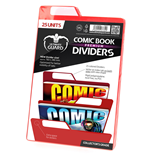 Ultimate Guard 25 intercalaires pour Comics Premium Comic Book Dividers Rouge