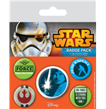 Star Wars pack 5 badges Jedi