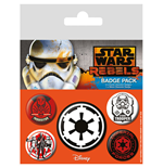 Star Wars pack 5 badges Villains