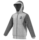 Sweat à Capuche Real Madrid Adidas 3S 2015-2016 (Gris)