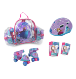 Set Patins à Roulettes + Protection et Sac Transparent La Reine des Neiges (Frozen)