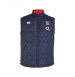 Gilet Rembourré Angleterre Rugby 2015-2016 (Bleu Marine)