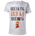T-shirt Nintendo Super Mario Bros. Breaking Bricks Since '85 with Jumping Mario, Taille L