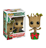 Les Gardiens de la Galaxie POP! Vinyl Bobble Head Holiday Dancing Groot 10 cm