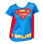 T-shirt Superman - Cape Costume (Femme)