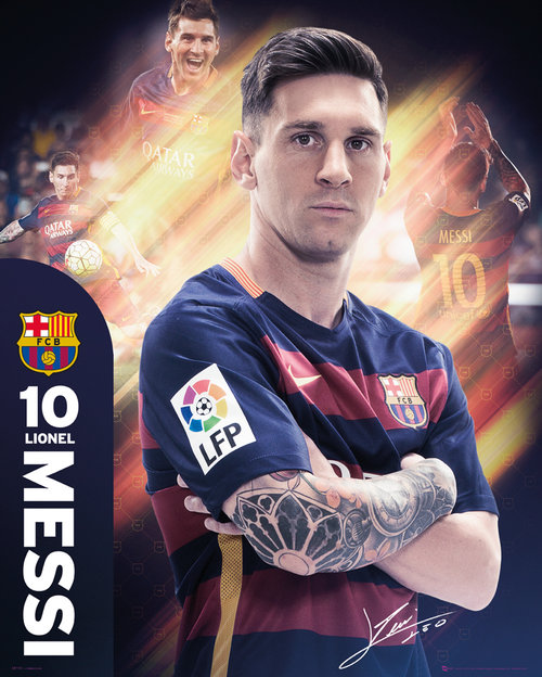 Poster FC Barcelone Messi 15/16