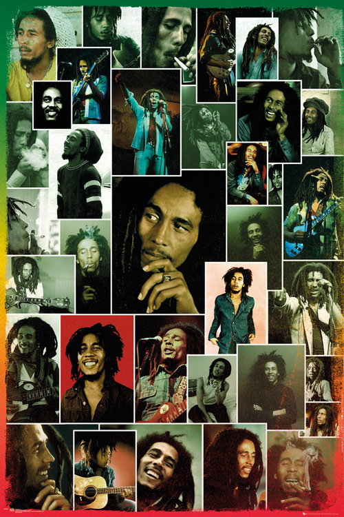 Poster Bob Marley Collage