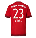 Maillot de Football Bayern Munich Home 2015-2016 ( Vidal 23)