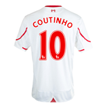 Maillot de Football Liverpool FC Away 2015-2016 (Coutinho 10)