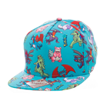 Pokemon casquette hip hop Snap Back Characters All Over