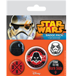 Star Wars pack 5 badges Dark Side