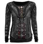 Pull Manches Longues Gothess Wrap - All Over Spiral Noir