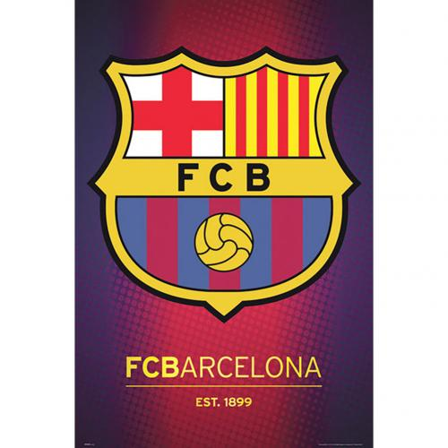 Poster FC Barcelone Crest 54