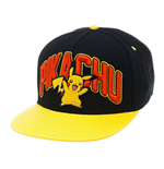 Pokemon casquette hip hop Snap Back Pikachu