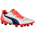 Chaussures de Football Puma Evopower (Blanc-Orange)
