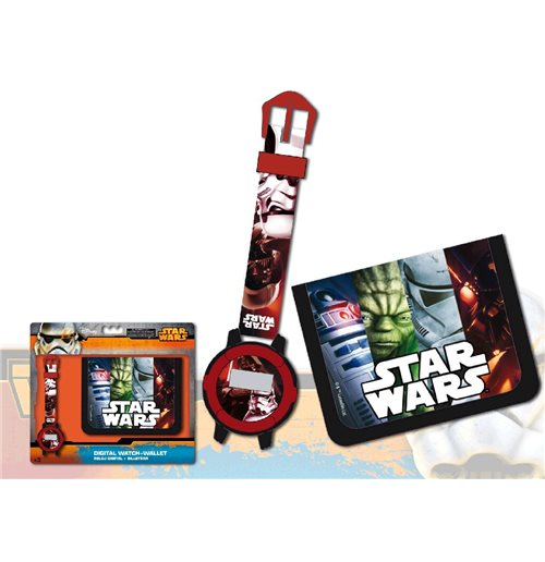 coffret cadeau montre portefeuille star wars pour seulement a 18 05 sur merchandisingplaza. Black Bedroom Furniture Sets. Home Design Ideas