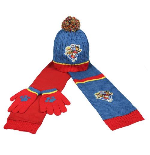 ensemble 3 pi ces bonnet gants charpe la pat 39 patrouille pour seulement 15 90 sur. Black Bedroom Furniture Sets. Home Design Ideas