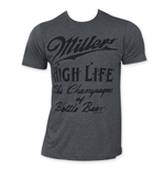 T-shirt Miller High Life Logo Charcoal Cursive