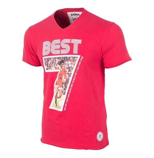 T-shirt George Best (Rouge)