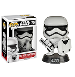 Star Wars Episode VII POP! Vinyl Bobble Head First Order Stormtrooper with Shield 9 cm