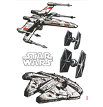 Star Wars stickers Spaceships 100 x 70 cm