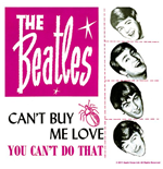 Ssous-verre Beatles - Can't Buy Me Love/You Can't Do That