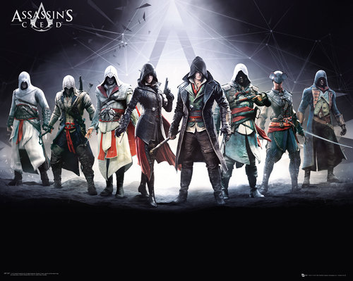 Poster Assassin's Creed - Personnages