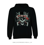 Sweat à Capuche Guns N' Roses: Distressed Skull