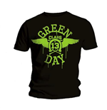 T-shirt Green Day: Noir Néon