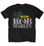 T-shirt Bob Marley: Logo Distressed